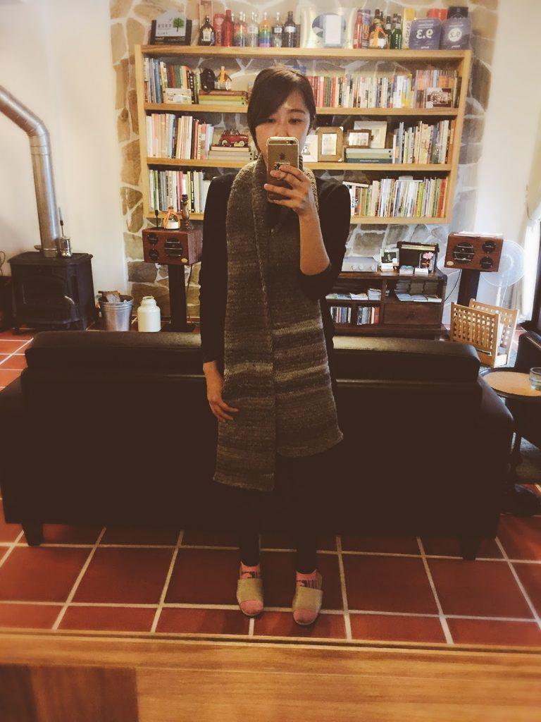 簡單圍巾編織人字紋型